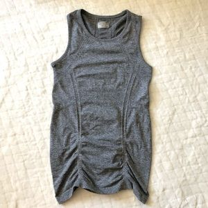 Athleta gray fast track ruched tank/ XS